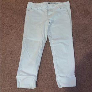 GAP WHITE CUFFED PANTS! EUC